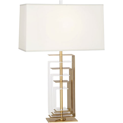 Riley Brass and Clear Acrylic One-Light Table Lamp