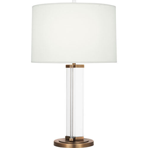 Avon Clear Glass and Aged Brass 29-Inch One-Light Table Lamp
