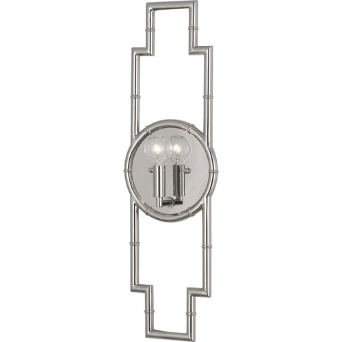 Clark Polished Nickel One-Light Wall Sconce
