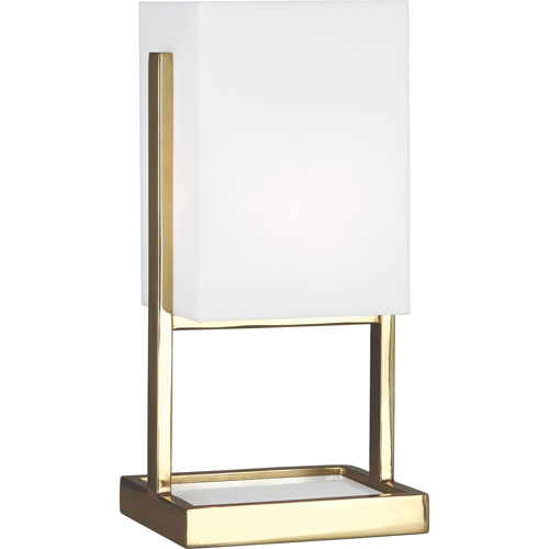 Guildford  Brass and White Marble 13-Inch One-Light Table Lamp