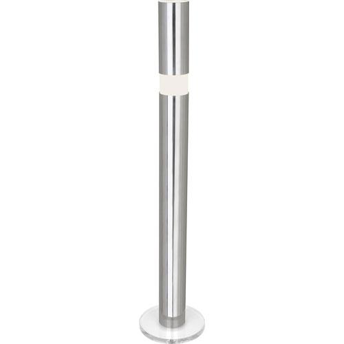 Eldon Polished Aluminum One-Light Floor Lamp