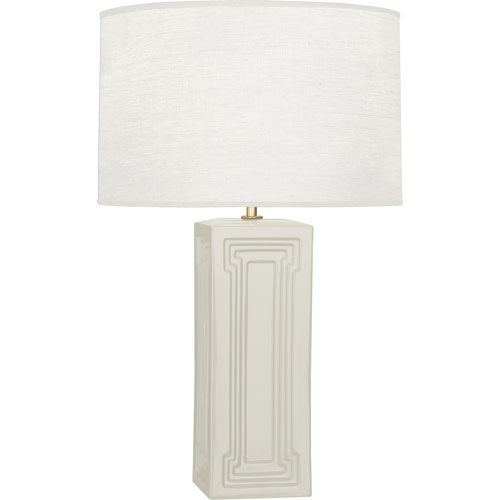 Mill & Mason Hatton White and Brass One-Light Table Lamp