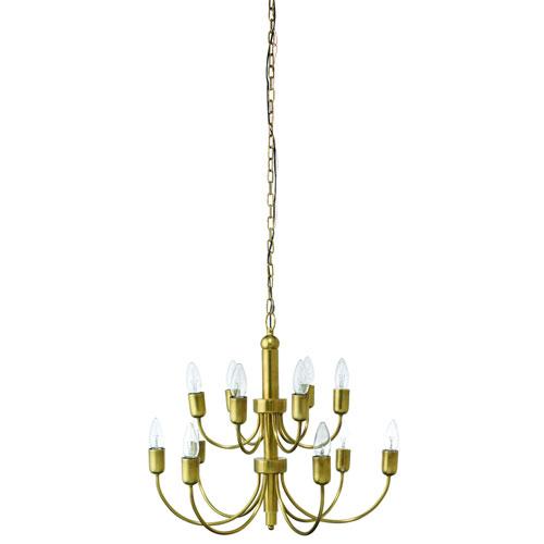 Dale Antique Brass 12-Light Chandelier