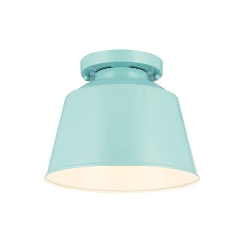 Lester Blue One-Light Semi Flush Mount