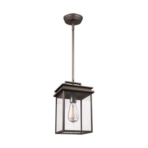 Arran Bronze One-Light Outdoor Pendant Lantern