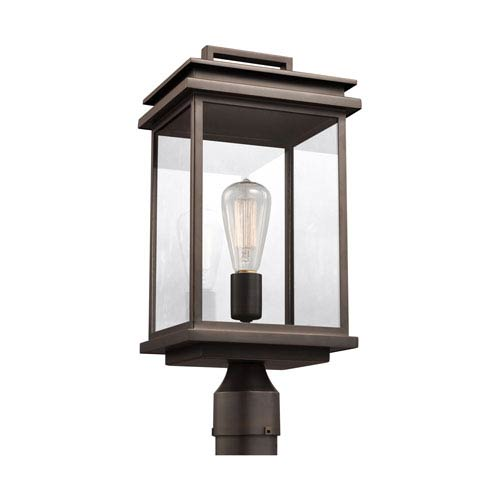 Arran Bronze One-Light Outdoor Post Lantern