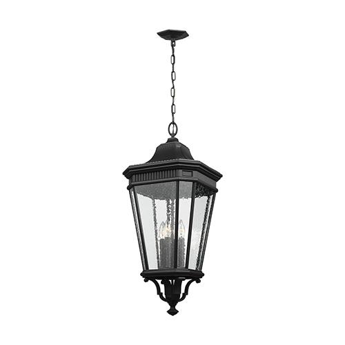 Castle Black 31-Inch Four-Light Hanging Lantern