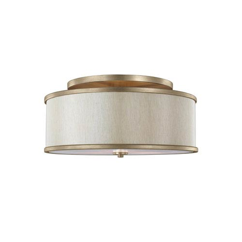 Cumbria Gold Three-Light Semi-Flush Mount