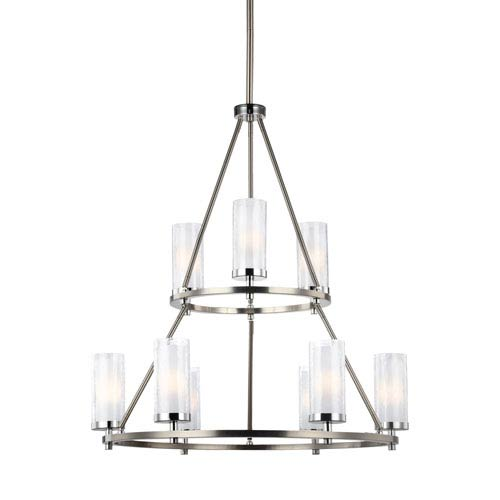 Farley Satin Nickel Nine-Light Chandelier