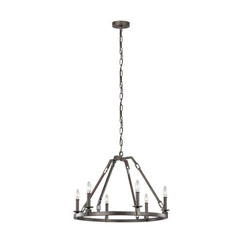 Heaton Steel Six-Light Chandelier