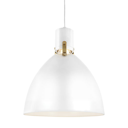 Knole White 14-Inch LED Dome Pendant