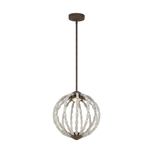 Marbury Gray 14-Inch LED Globe Pendant
