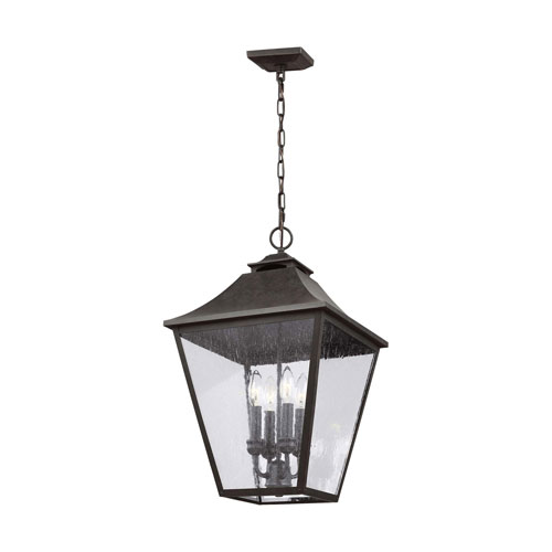 Sutton Black 23-Inch Four-Light Outdoor Pendant