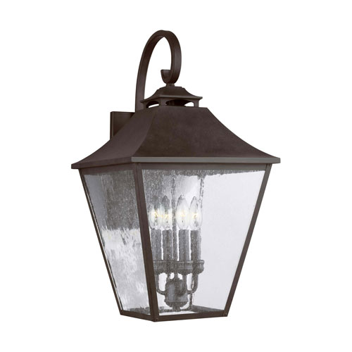 Sutton Black 25-Inch Four-Light Outdoor Wall Lantern