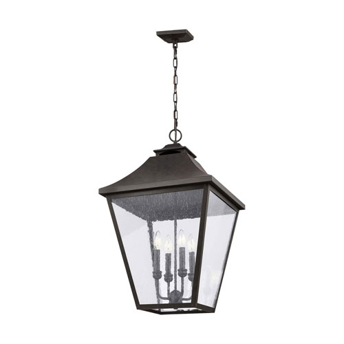 Sutton Black 29-Inch Four-Light Outdoor Pendant