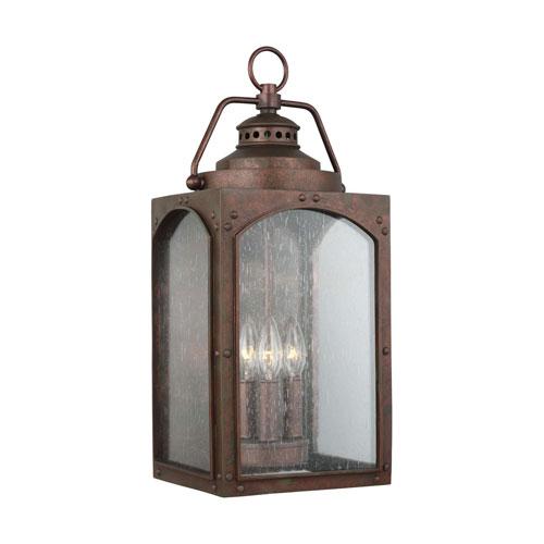 Wilbur Copper Three-Light Outdoor Wall Lantern
