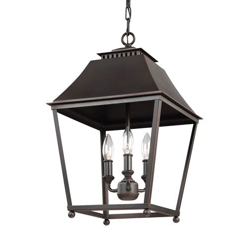 Worcester Copper 13-Inch Three-Light Pendant