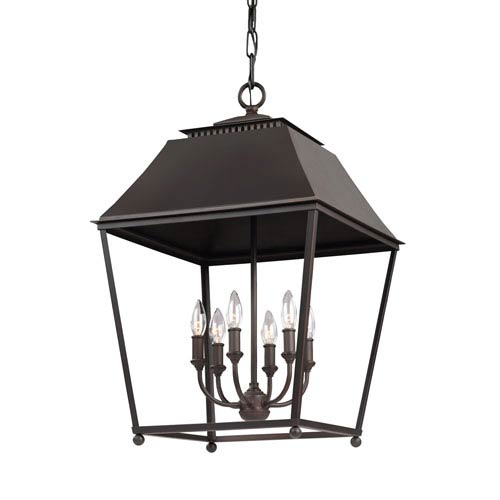 Worcester Copper 18.5-Inch Six-Light Pendant