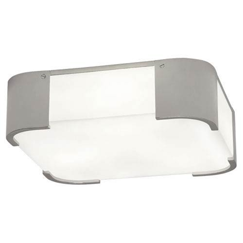 Ayres Silver Three-Light Flush Mount