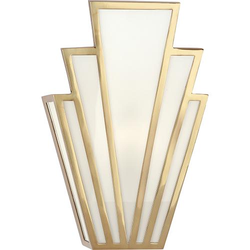 Lulu Brass  Seven-Inch One-Light Wall Sconce