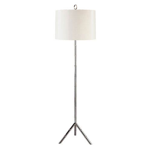 Brenthouse Polished Nickel One-Light Floor Lamp with White Shade