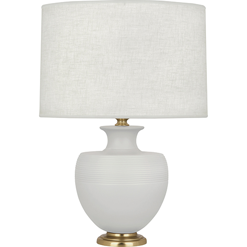 Lancaster White and Brass Accents 25-Inch One-Light Table Lamp