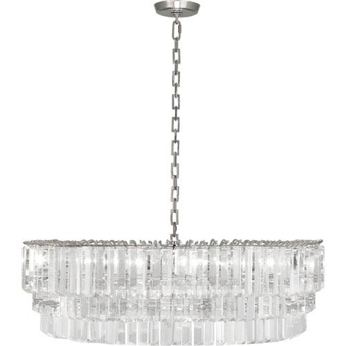 Clapham Polished Nickel Six-Light Chandelier