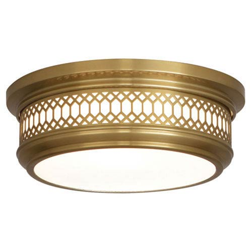 Mariner Antique Brass Two-Light Flush Mount