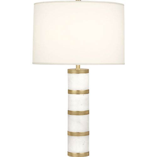 Bridgeway Brass One-Light 29-Inch Table Lamp with White Shade