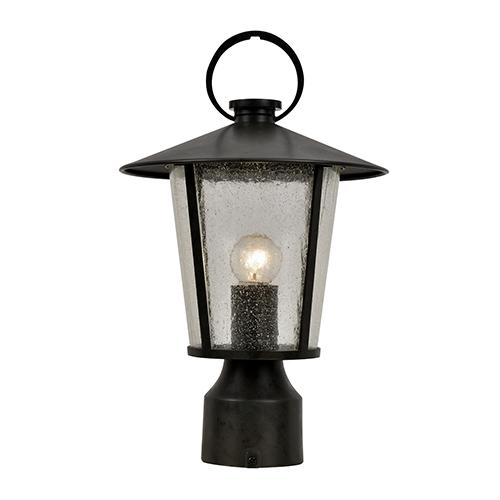 Alba Matte Black One-Light Outdoor Post Mount