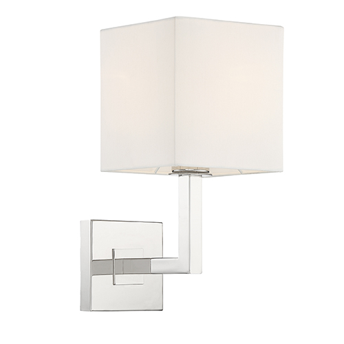 Clayton Polished Nickel One-Light Wall Sconce