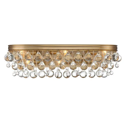 Hopewell Gold Six-Light Bath Vanity