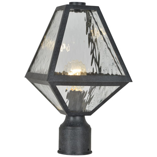 Randolph Black Six-Light Outdoor Post Lantern