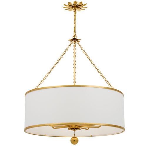 Rosemary Antique Gold Eight-Light Chandelier