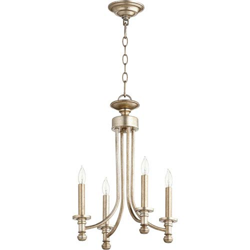 Atherton Aged Silver Leaf 14-Inch Four-Light Chandelier
