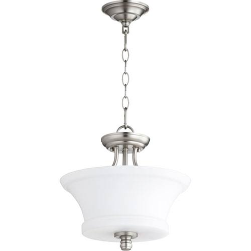 Atherton Satin Nickel 13-Inch Two-Light Pendant