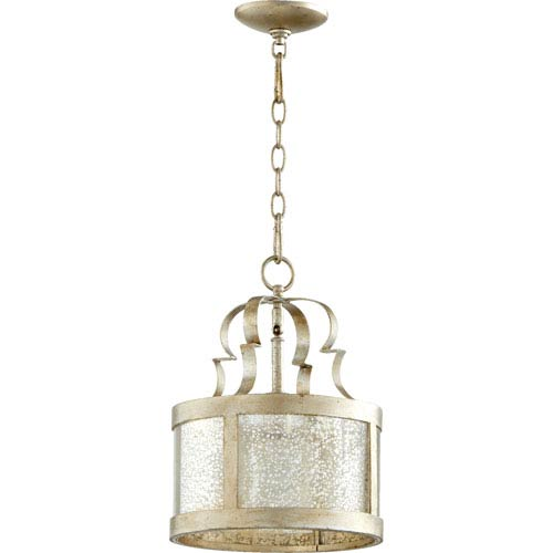 Bloomfield Aged Silver Leaf One-Light Pendant