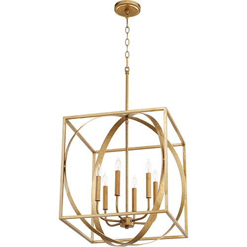 Drake Gold Leaf Six-Light Pendant