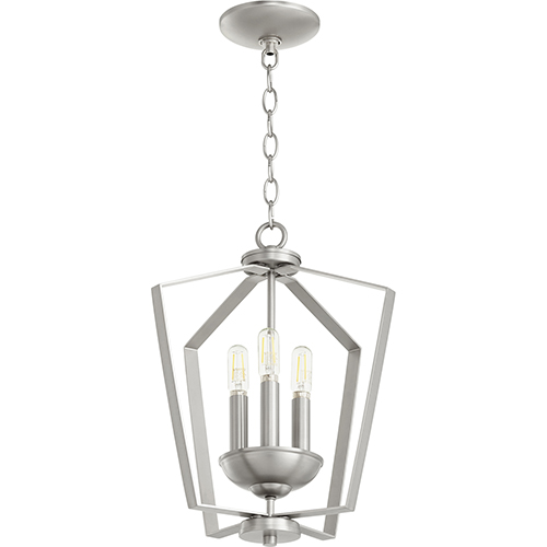 Greenfield Satin Nickel Three-Light Pendant