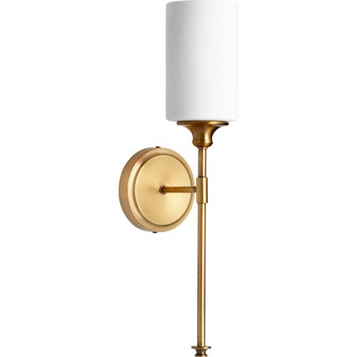 Kingsbury Aged Brass Five-Inch One-Light Wall Sconce