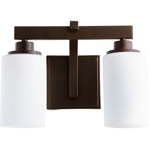 Manchester Oiled Bronze Two-Light Bath Vanity