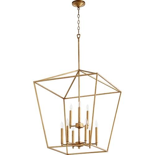 Windsor Gold Leaf Nine-Light Pendant
