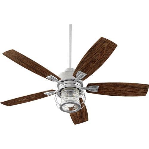 Woodland Silver One-Light Ceiling Fan
