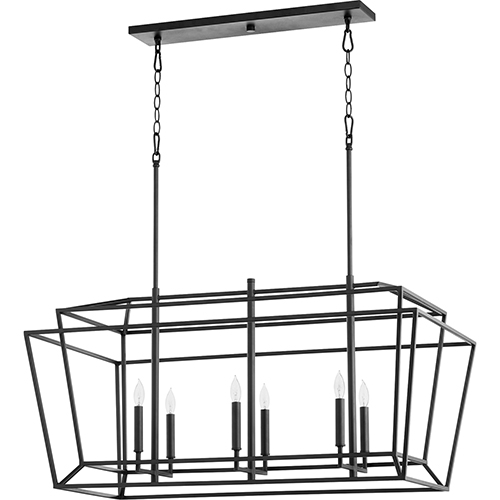 Woodrow Black 20-Inch Six-Light Pendant