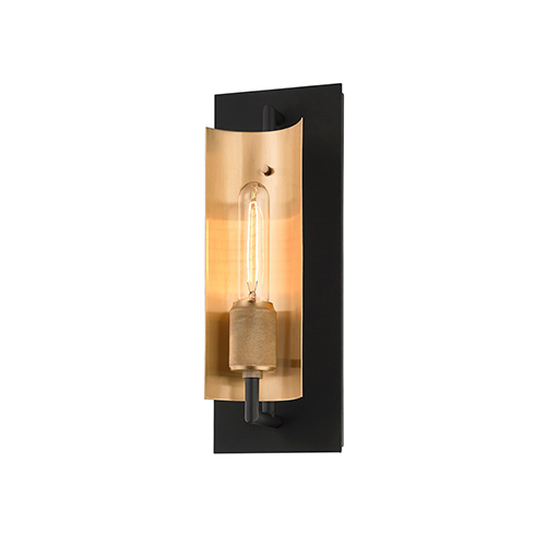 Cleo Black and Brass One-Light Wall Sconce