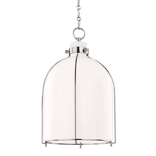 Maddox Polished Nickel One-Light Pendant