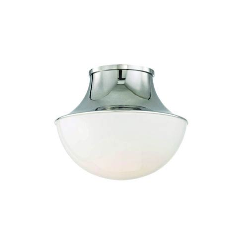 Viviane Polished Nickel 11-Inch LED Flush Mount