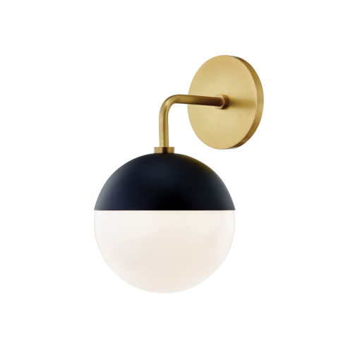 Mckenna Aged Brass and Black One-Light Wall Sconce