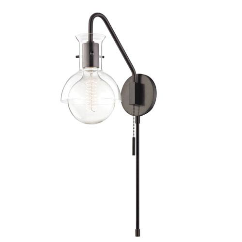 Sloane Old Bronze One-Light 6-Inch Wall Sconce with Clear Glass