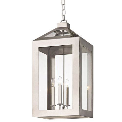 Hannington Polished Nickel 14-Inch Four-Light Lantern Pendant